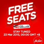 Air Asia FREE Seats Promotion starts on 23 March 2015!