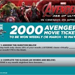 Listerine FREE Marvel Avengers Age of Ultron Movie Tickets Giveaway