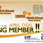 Jogoya April Promotion: Enjoy Buffet from only RM29.90 nett!