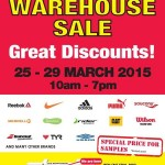 RSH Sports Warehouse Sale (Reebok, Nike, Adidas, Puma, Saucony, Merrell, Ipanema, Rider, CAT, Wilson, Babolat, TYR, Umbro)