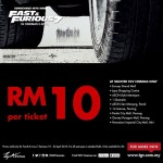 TGV Cinemas Fast and Furious 7 Movie Ticket at only RM10