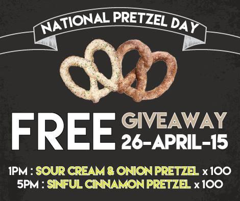 Wetzel's Pretzels Malaysia Outlets FREE Pretzels Giveaway