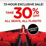 Air Asia 72 Hours Exclusive Sale: Enjoy 30% Discount for ALL Seats, ALL Flights!