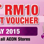 AEON Member Privilege Day FREE RM10 Gift Voucher Giveaway at ALL AEON Stores