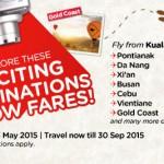 Air Asia Promo 2015: Fly to Pontianak, Da Nang, Xi'an Busan, Cebu, Vientiane, Gold Coast from only RM99