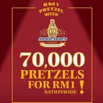 Auntie Anne's Pretzels Promotion: 70,000 Pretzels for only RM1!