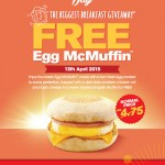 McDonald's National Breakfast Day 2015: FREE Egg McMuffin Giveaway