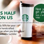 Starbucks Handcrafted Beverage @ 50% Discount at ALL Starbucks Stores!
