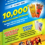 Golden Screen Cinemas FREE Popcorn Combo Giveaway