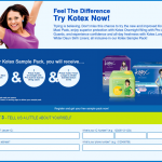 Kotex FREE Sample Giveaway