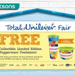 Watsons FREE Tupperware Containers Giveaway!