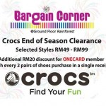 Crocs End of Season Clearance Sale: Price from only RM49!