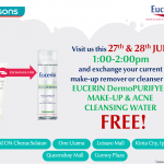 Eucerin DermoPURIFYER Make-up & Acne Cleansing Water Giveaway for FREE!