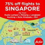 Air Asia Flights to Singapore at 75% discount!