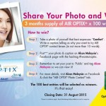 Air Optix Contact Lenses Giveaway for FREE by Alcon Malaysia