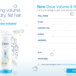 Dove Volume & Nourishment FREE Sample Giveaway