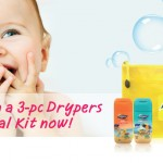 Drypers FREE Baby Care Trial Kit Giveaway – Drypers Head to toe, Lotion and Wipes!