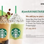 Starbucks Buy 1 FREE 1 Promotion at ALL Starbucks Store at Anytime!