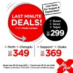 Air Asia: Fly to Busan, Seoul, Taipei from only RM299!