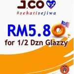 J.CO Donuts & Coffee Half Dozen Glazzy for only RM5.80