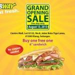 "Subway 6"" Sandwich Buy 1 FREE 1 Promotion!"