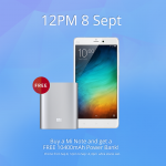 Buy Mi Note FREE Mi Power Bank Giveaway Promotion!