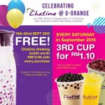Chatime FREE Drinking Bottle Giveaway Promotion