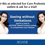 Acuvue Contact Lens FREE Trial Samples Giveaway