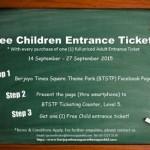 Berjaya Times Square Theme Park FREE Child Entrance Tickets Giveaway!