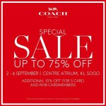 COACH Malaysia Sale: Enjoy Disocunt Up To 75%!