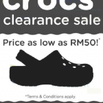 CROCS Clearance Sale: Price as low as RM50!
