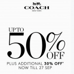 COACH Special Sale: Enjoy Discount up to 50% + Additional 30% Discount!