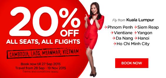 Air Asia 20% Discount