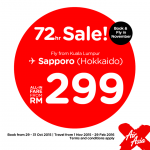Air Asia Sapporo (Hokkaido) Sale: Fly from only RM299!