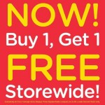 CROCS Concept Store Storewide Buy 1 FREE 1 Promotion!