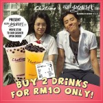 Chatime Promo: Enjoy 2 Drinks for only RM10 Promotion