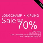 Longchamp and Kipling Warehouse Clearance Sale