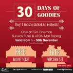 TGV Cinemas FREE Movie Tickets and Popcorn Set Giveaway