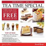 Secret Recipe Malaysia FREE Coffee or Tea Giveaway Promotion!