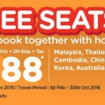 Air Asia Go FREE Seats Promotion 2016: Return Flights + 2N Stay + Tax from only RM188!