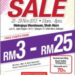 Reject Shop Warehouse Clearance Sale: Price from only RM3 – RM25!