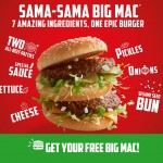 McDonald's Big Mac Burger Giveaway for FREE!