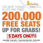 FireFly FREE Seats Promotion 2015 / 2016