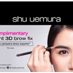 Shu Uemura Brow Fix Service Giveaway for FREE!