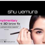 Shu Uemura Brow Fix Service Giveaway for FREE!