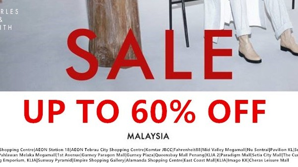 Charles & Keith Sale: Discount up to 60% at ALL Charles & Keith Malaysia Outlets
