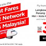 AirAsia 2016 Promo: Fly to Langkawi, Kota Bahru, Penang, Johor Bahru, Miri, Kota Kinabalu, Bintulu from only RM39!