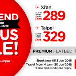 Air Asia 2016 Promo: Fly to Xi'an, Perth, Taipei, Busan from only RM289
