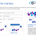CooperVision Biofinity Contact Lens FREE Sample Giveaway