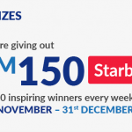 Starbucks Card worth RM150 Giveaway